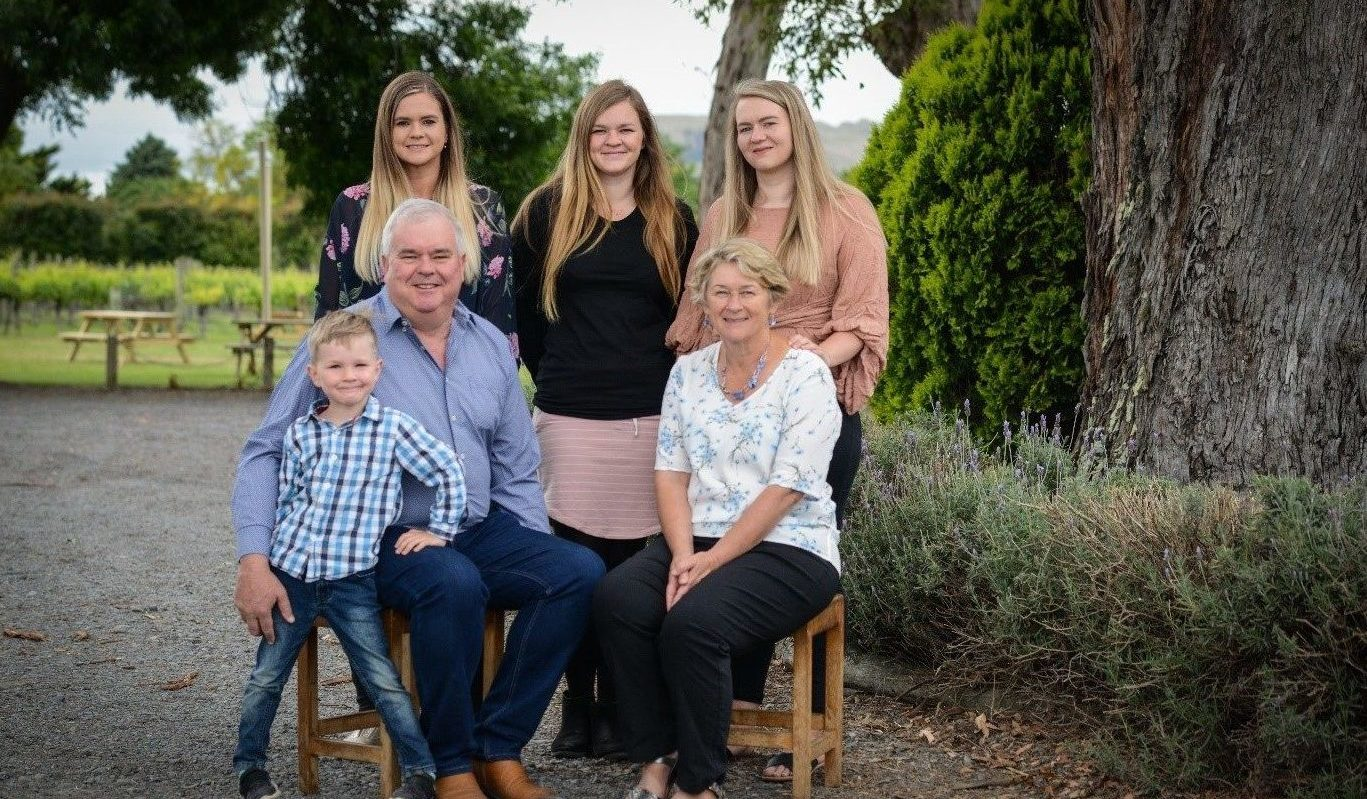 Three Generations of The Loughlin Family of Askerne Winery Hawkes Bay New Zealand